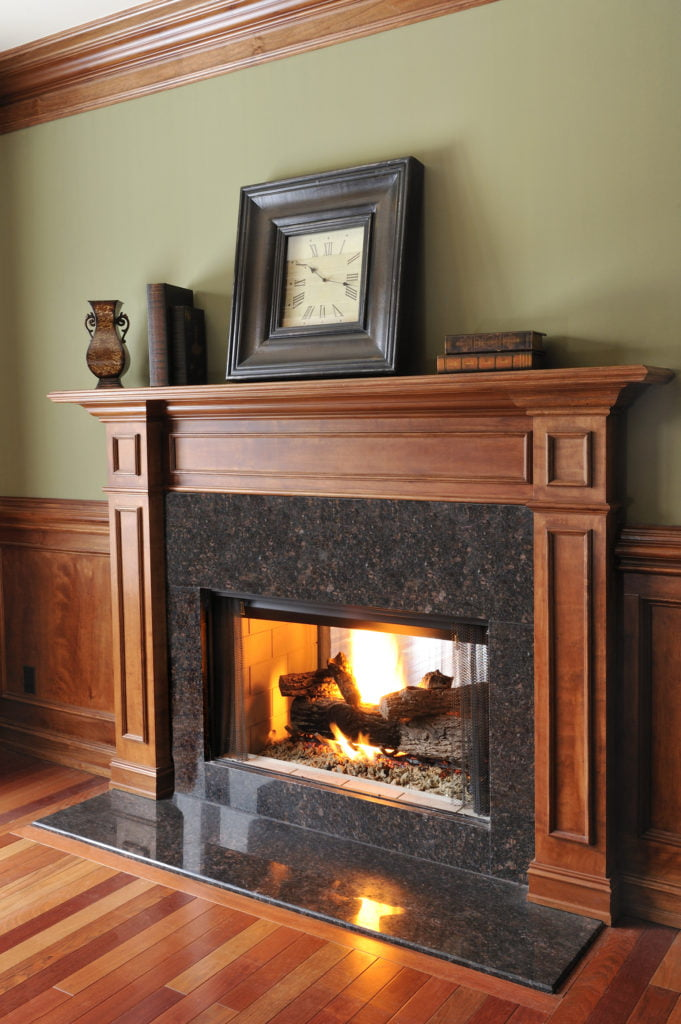 Wood Mantel & Custom Millwork from The Fireplace Loft